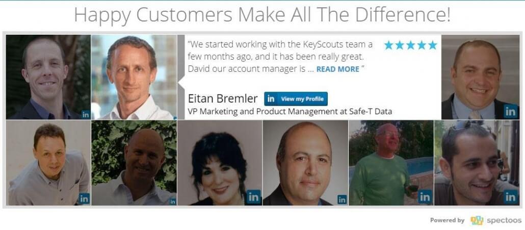 customer testimonials widget
