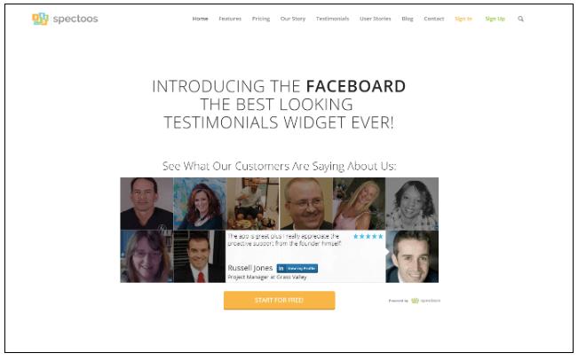 Spectoos Customer Testimonial Platform
