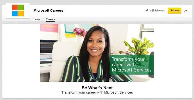LinkedIn Banner Microsoft