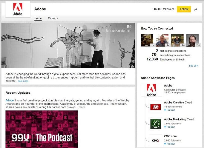 LinkedIn Showcase Adobe