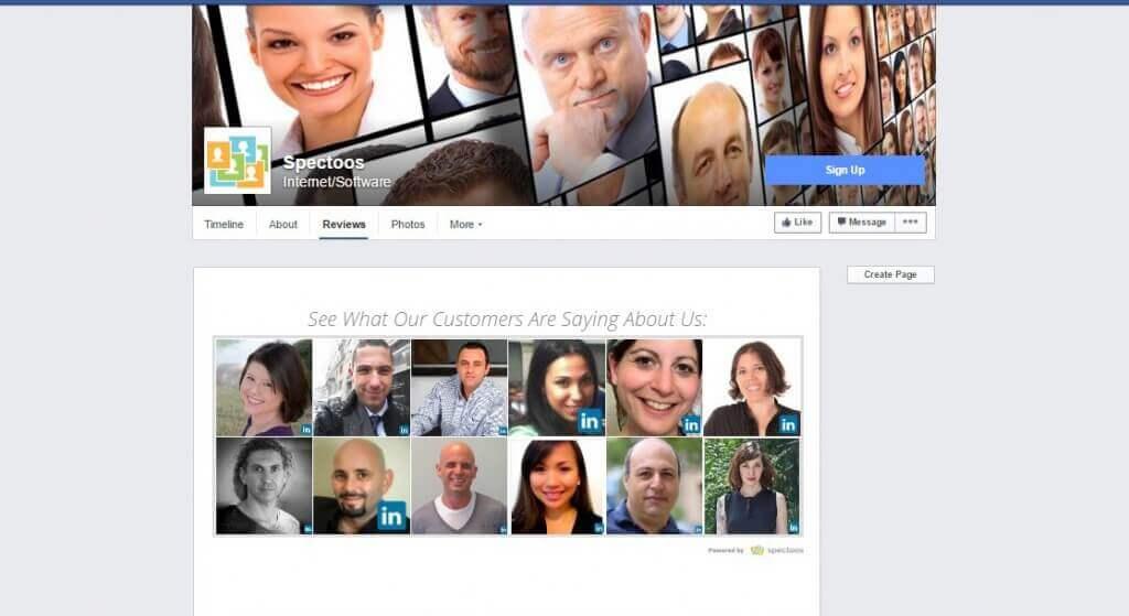 using customer testimonials on facebook