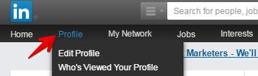 LinkedIn Profile Tab