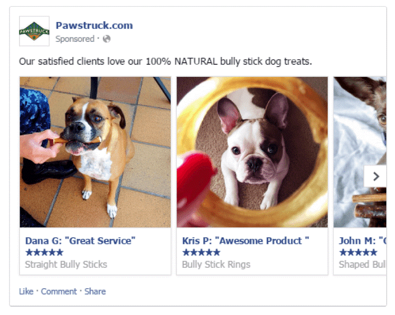 facebook ads carousel